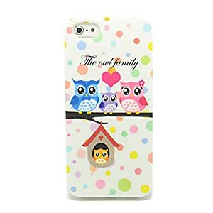 GHK - Cute Owls and Birdhouse Pattern IMD Craft TPU Case for iPhone 5/5S