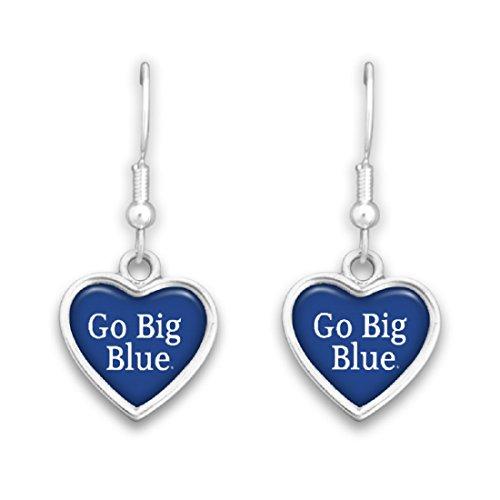 (FTH 54795 Kentucky Wildcats Heart Slogan Earrings)