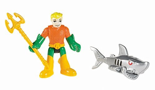 Fisher Price Imaginext DC Super Friends Figures Aquaman And Robo Shark by Imaginext