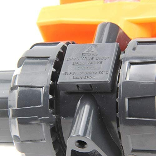 Color : Dark Gray, Diameter : Inner Dia 110mm I.D 20~110mm UPVC Ball Valve Industrial Grade Valve PVC Pipe Globe Valve Aquarium Tank Water Pipe Connector Union