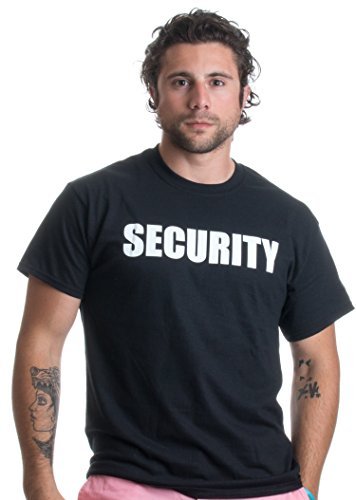 SECURITY | Event Safety Guard Two Side Print Black w/ Tall Sizes Unisex T-shirt-Adult,2XL