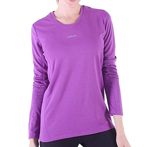 H.MILES Womens Running Shirt Long Sleeve Dry Fit Compression Tops S-XXL