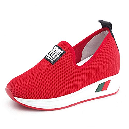 Red De Zapatos Tacón On Mocasines Slip Gunaindmx Mujer XYxwSa6