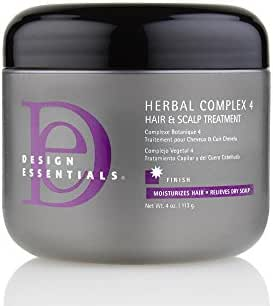 Design Essentials Herbal Complex 4 Hair + Scalp Conditioning Treatment w/Black Indian Hemp, Ginseng, Horsetail & Rosemary Herbs-4oz.