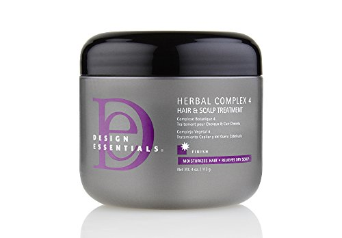(Design Essentials Herbal Complex 4 Hair + Scalp Conditioning Treatment w/Black Indian Hemp, Ginseng, Horsetail & Rosemary Herbs-4oz.)