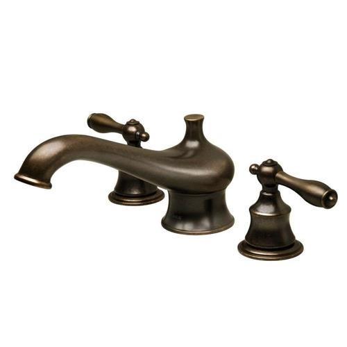 Pegasus 65602-8196H Estate Double Handle Deck Mount Roman Tub Faucet Finish: Heritage Bronze