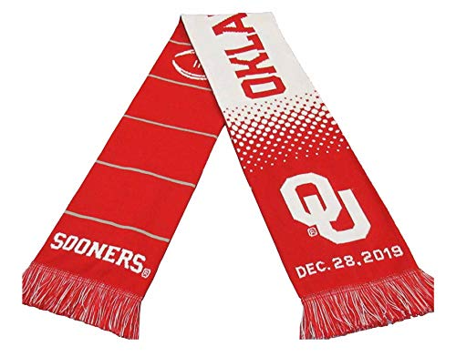 Official 2019 College Football Playoff Peach Bowl Oklahoma Knitted Scarf