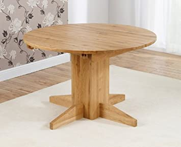 Corona Oak Dining Furniture Round Extending Dining Table