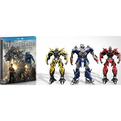 Transformers 4 : l'âge de l'extinction - édition limitée blu ray + DVD + 3 FIGURINES