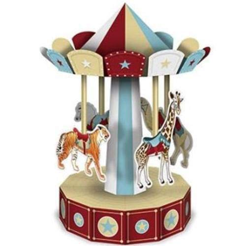 Beistle 3-D Vintage Circus Carousel Centerpiece
