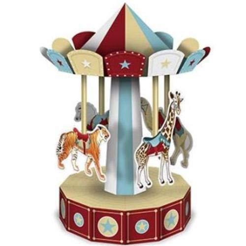 Beistle 3-D Vintage Circus Carousel -