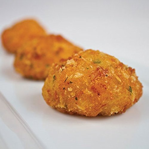 Order Wholesale Macaroni & Cheese Poppers with no Ham for Party - Gourmet Frozen Vegetarian Appetizers (Set of 4 Trays)]()