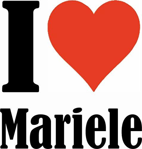 """Handyhülle iPhone 4 / 4S """"I Love Mariele"""" Hardcase Schutzhülle Handycover Smart Cover für Apple iPhone … in Weiß … Schlank und schön, das ist unser HardCase. Das Case wird mit einem Klick auf deinem S"""
