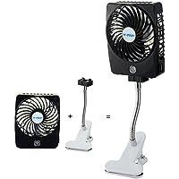 Niceshop Mini Handheld Square Electrical Portable Rechargeable Fan 3 Speeds Desktop Clip-on Fan