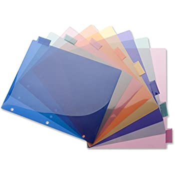 business source 32371 insert index dividers 8 12x11 8 tab multi