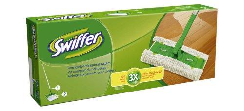 Swiffer Starterset für den Boden - Bodenstab plus 2 Tücher, 1er Pack (1 x 1 Stück)