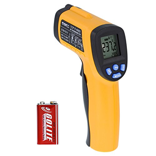 TCP Global Non-contact Digital Laser Infrared Thermometer IR Temperature Gun -58°F ~ 1022°F (-50C° ~ 550°C), LCD Display - Cooking, Home Maintenance & Auto Repairs