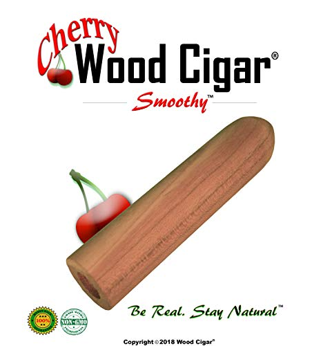 Wood Cigar® - Cigar Pipe Wooden Stogie (Cherry, 3 - Tobacco Cuban Seed
