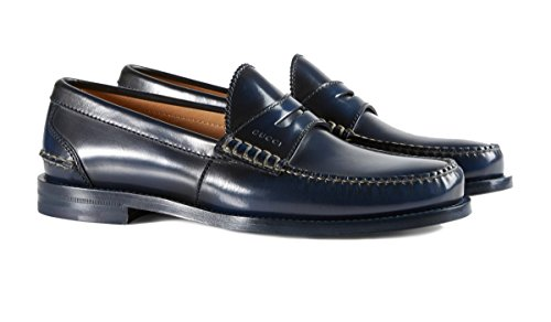 6d820774ea4 Galleon - Gucci Men s Polished Burnished Leather Penny Loafer