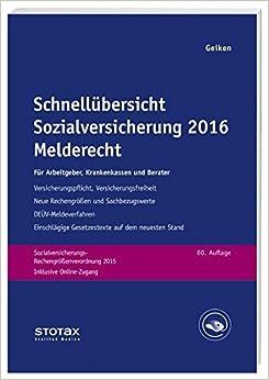 Book Schnellübersicht Sozialversicherung 2016 Melderecht