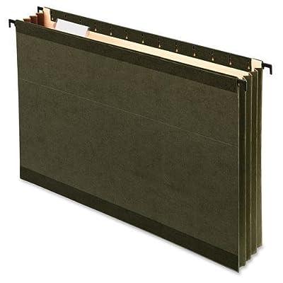 """09317 Pendaflex Sure Hook Hanging Pocket - 3.50"""" Folder Capacity - Legal - 8.50"""" Width x 14"""" Length Sheet Size - 3.50"""" Expansion - 11 pt. - Poly - Standard Green - 4 / Pack"""