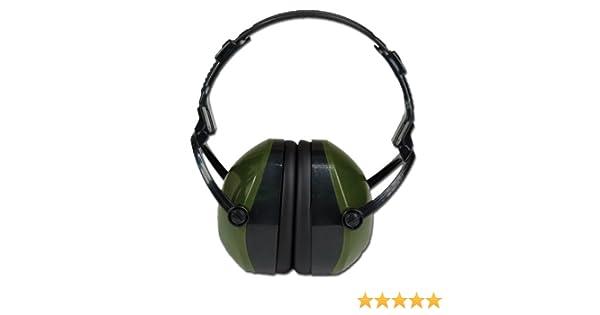 Casco antiruido Verde protección anti ruido PLEGABLE: Amazon.es: Deportes y aire libre