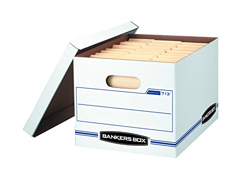 Bankers Box STOR/FILE Storage Boxes, Standard Set-Up, Lift-Off Lid, Letter/Legal, 6 Pack (0071303)