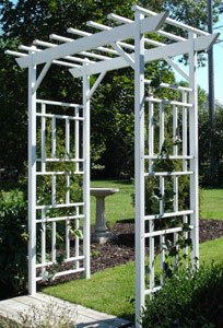 Dura-Trel 11179 Wellington Arbor, White (Kits Wood Arbor)