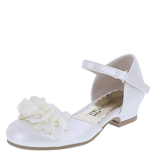 SmartFit Pearlized Ivory Girls' Toddler Cici Dress Shoes 6.5 -