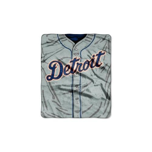 "The Northwest Company MLB Detroit Tigers Jersey Plush Raschel Throw, 50"" x 60"""