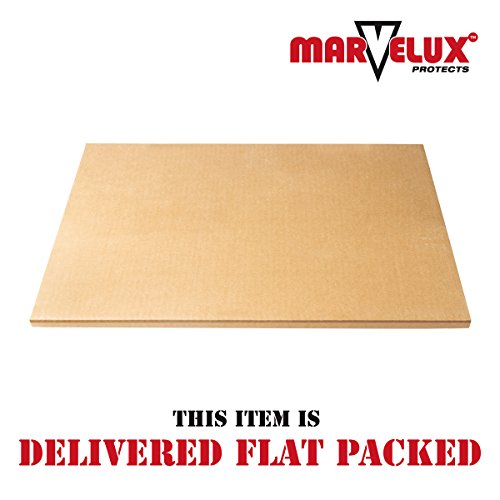 Marvelux 36'' x 48'' Heavy Duty Polycarbonate (PC) Lipped Chair Mat for Low, Standard and Medium Pile Carpets | Transparent Carpet Protector | Pack of 2 by Marvelux (Image #8)