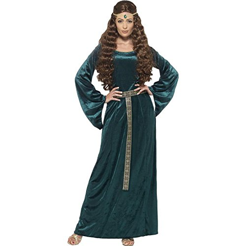 Plus Size 22 Halloween Costumes (Smiffy's Women's Medieval Maiden Costume, Dress and Headband, Tales of Old England, Serious Fun, Plus Size 22-24, 45497)