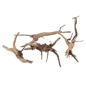 Emours Natural Driftwood Vine Branches Reptiles Aquarium Decoration Assorted Sizes,Small,4 Pieces 22