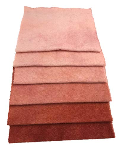 Winterberry Cabin Hand-Dyed Felted100% Wool; Antique Rose KS 6 pc Charm Bundle