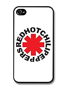 Red Hot Chili Peppers Rock Band RHCP Red Logo case for iPhone 4 4S by ruishername