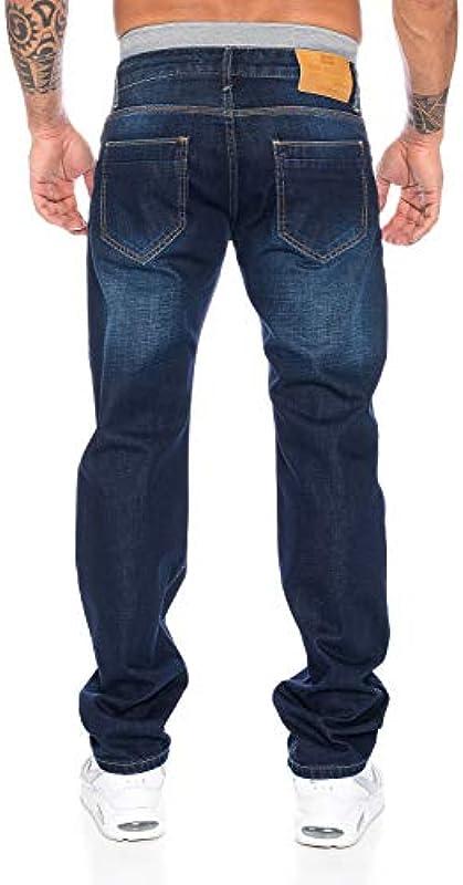 Rock Creek Designerskie spodnie jeansowe męskie Straight-Cut proste nogawki Clubwear RC-2102 W29-W44: Odzież