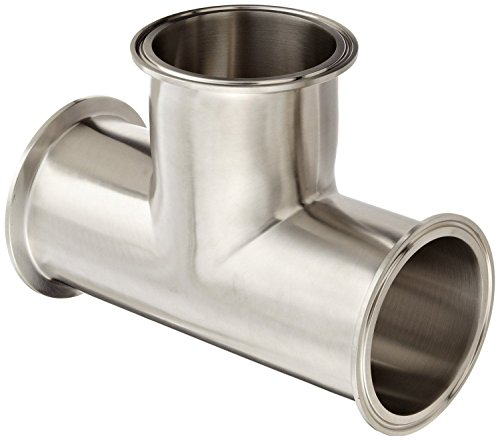 2 Tube OD 2 Tube OD Dixon Valve /& Coupling Dixon B28AMP-R200 Stainless Steel 316L Sanitary Fitting Clamp Lateral