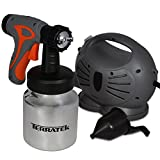 Terratek 650W Electric Paint Sprayer Spray Gun System, Ideal for Gloss, Satin, Varnish, Fence Paint & Mo