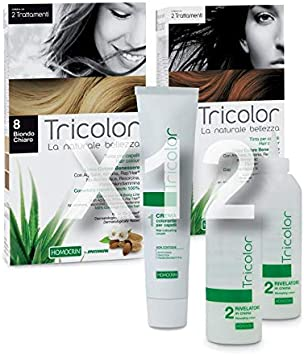 ESPECCHIASOL - Tinte Tricolor para el cabello 8 rubio claro ...