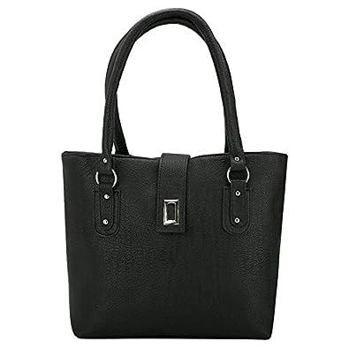290114e3255f Typify Casual Shoulder Bag Magnet Button   Zip Closure Women   Girl s  Handbag (Black)  Amazon.in  Shoes   Handbags