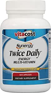 Vitacost Synergy Twice Daily Energy Multi-Vitamin -- 60 Capsules