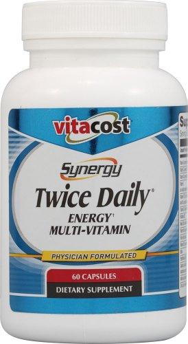 Vitacost Synergy Twice Daily Energy Multi-Vitamin -- 60 Capsules