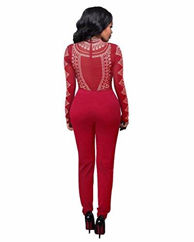vestido vendaje noche mujer 2 e otoño sello falda 6177wine estirar pantalón siameses redQ2 la La invierno HDYS qUExWAT