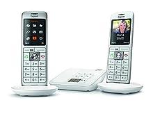Gigaset CL660A Analog/DECT Telephone Gris Identificador de Llamadas - Teléfono (Analog/DECT Telephone, Terminal inalámbrico, Altavoz, 400 entradas, Identificador de Llamadas, Gris)