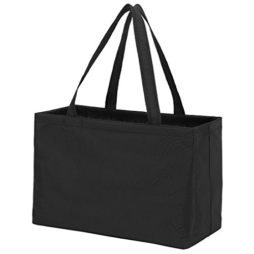 Solid Color Ultimate Tote - Carry All Organizer Bag - A Tailgate Must Can Be Personalized (Monogrammed Black) (Tote Ultimate)