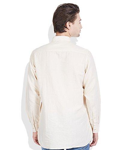 Royal Kurta Men's Summer Wear Fine Cotton Blended Straight Kurta 44 Beige