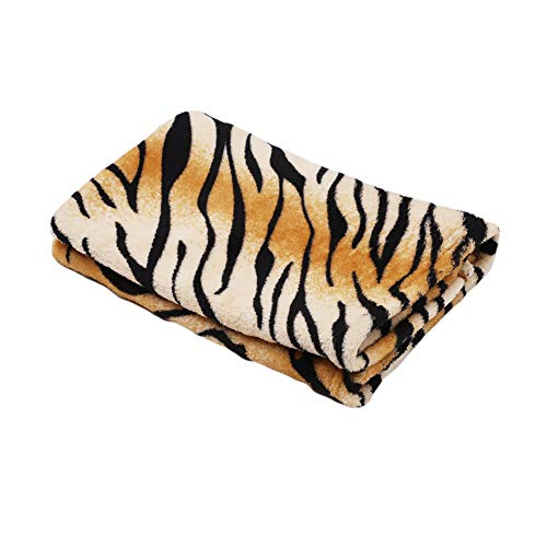 TizzyPet Tiger Print Pet Blanket Ultra Soft Flannel Fleece Pet Blankets Sleep Mat Bed Sofa Cover Bath Towel for Dog Cat