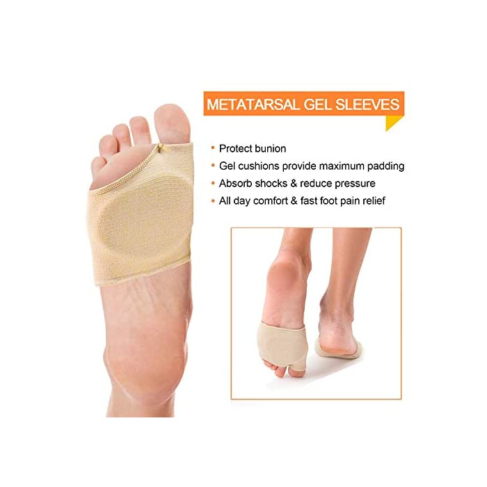 Metatarsal Ball of Foot Cushions Orthotics Metarsal Support Pad with Toe Loop to Help Sesamoiditis /& Mortons Neuroma Gel Metatarsal Foot Pads for Women or Men/'s Metatarsalgia Pain Relief 5 Pairs