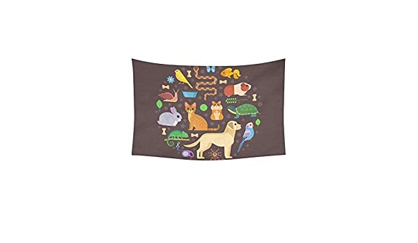 DHFISE Tapiz Colorful Collection Pets Including Dog ...