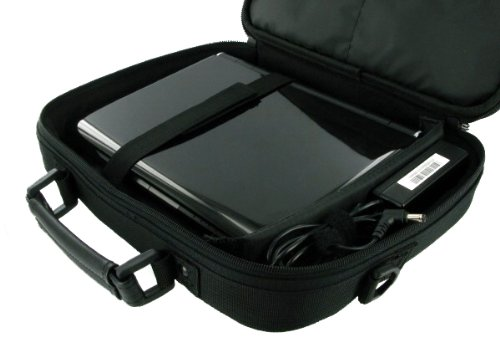 rooCASE Packard Bell 11.6-Inch Dot M Netbook Carrying Bag Case - Black Classic Series